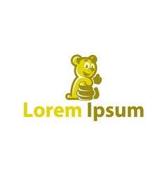 Cute bear with a jar of honey vector image