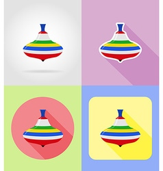 baby flat icons 03 vector image vector image