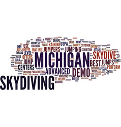 Best michigan skydive centers text background vector