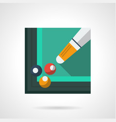 billiard skill flat square icon vector image vector image