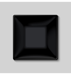 Black square plate vector image