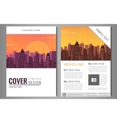Brochure flyer design template Leaflet cover vector image vector image