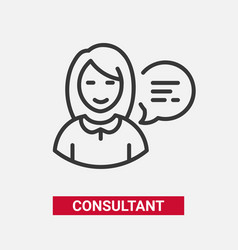 consultant - modern line design single icon vector image