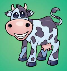 cow mascot vector image vector image