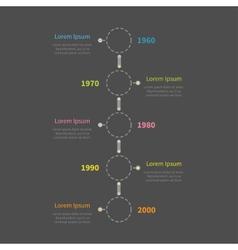 Dash line round icon timeline vertical infographic vector