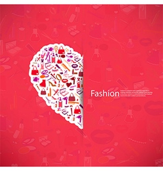 Fashion and Cosmetic make up and beauty icons vector image vector image