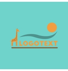 Flat icon on background giraffe logo vector