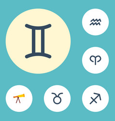 Flat icons water bearer ram optics and other vector
