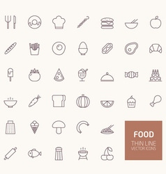 Food Outline Icons for web and mobile apps vector image