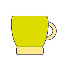 full color coffee cup drink beverage icon vector image