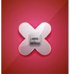 glass cross vector image