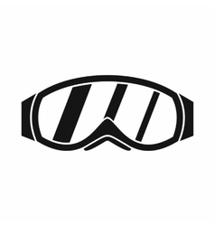Glasses for snowboarding icon simple style vector image