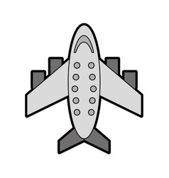 Grey airplane cartoon vector