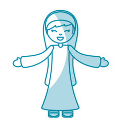 holy mary virgin character vector image vector image