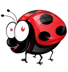ladybug cartoon vector image vector image