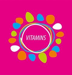 Logo abstract colored vitamins vector