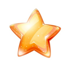 magic gold glossy star vector image vector image