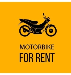 motorbike for rent poster vector image vector image