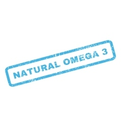 Natural Omega 3 Rubber Stamp vector image