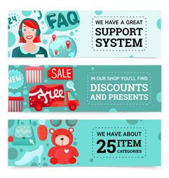Online store banners set vector