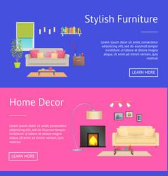 Stylish furniture home decor vector