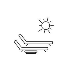 sunbed icon vector image