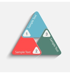 triangle back vector image