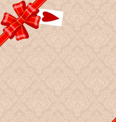 Vintage Background With Ribbon vector image vector image