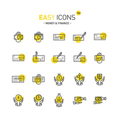 easy icons 13d money vector image