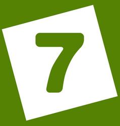 Number 7 sign design template element vector