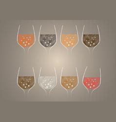 wine glass vector image