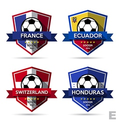 Set of soccer football badge vector
