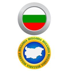 Button as a symbol of bulgaria vector