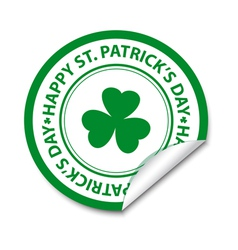 St patricks day sticker vector