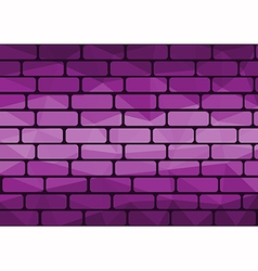 Polygon brick purple vector