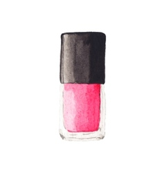Watercolor nail polish aquarelle vector