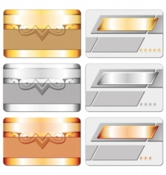 Metal cards vector