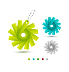 modern decorations vector image