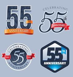 55 years anniversary logo vector