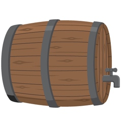 Wooden beer keg with spigot vector