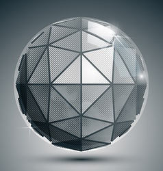 Textured plastic spherical object with flashes vector