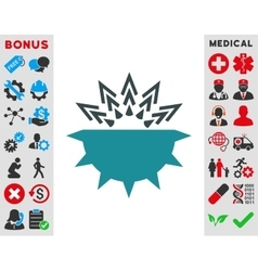 Viral structure icon vector