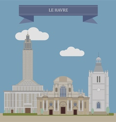 Havre vector image