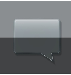 Modern glass bubble speech on sample vector