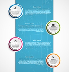 Abstract business options infographics template vector