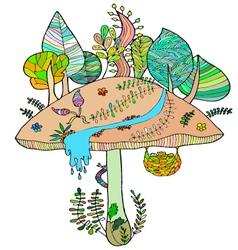 Cheerful mushroom vector image