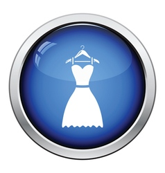 Elegant dress on shoulders icon vector