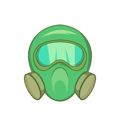 Gas mask icon cartoon style vector