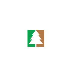 abstract christmas tree logo icon vector image