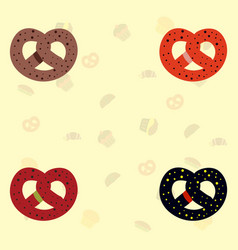 Bagels collection vector